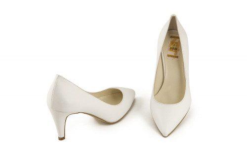 Mid heel leather pump 4 Passi