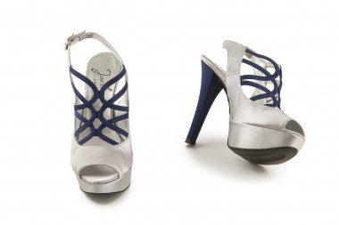 Satin high heel platform...