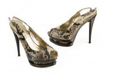 High heel python print...