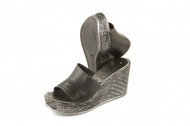 High wedge slide on sandal...
