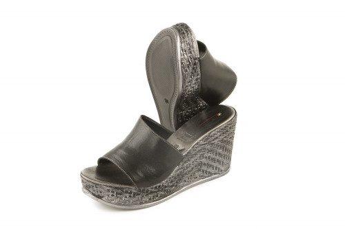 High wedge slide on sandal...
