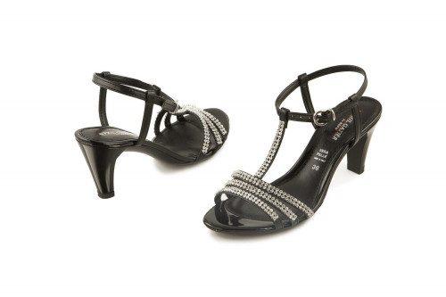 Evening mid-heel sandal...