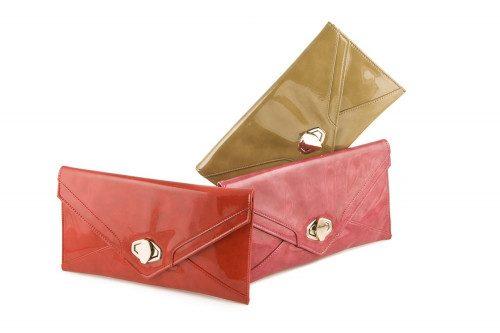 Patent envelope clutch bag...