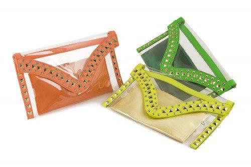 Neon transparent clutch bag...