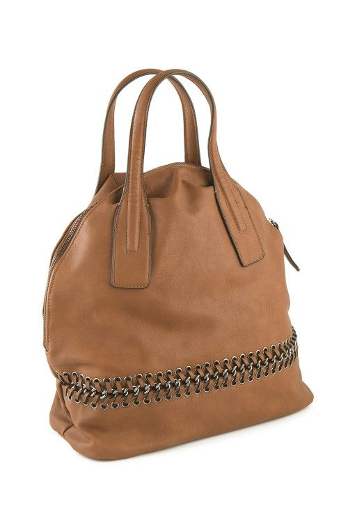 Brown imitation leather bag...