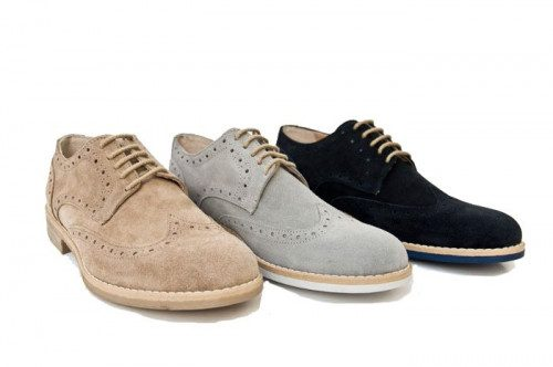 Genuine suede shoe Yellowside