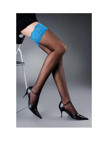 Bicolor stay-up stockings...