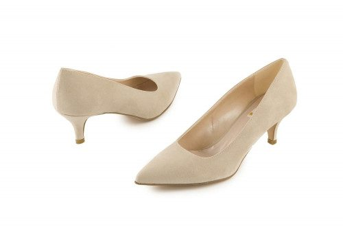Pointed mid heel pump 4 Passi