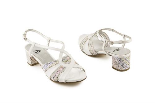 Block mid heel sandal 4 Passi