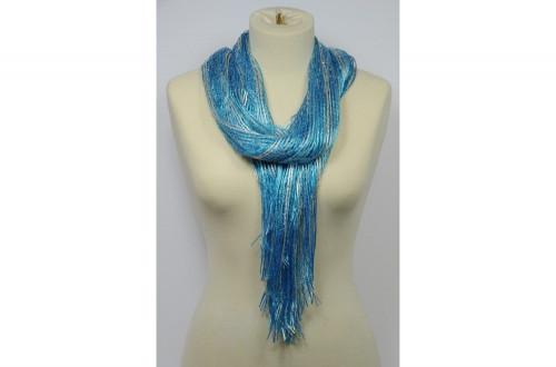 Metallic striped scarf...