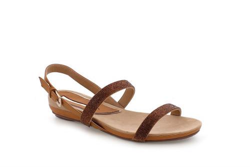 Jeweled low-wedge sandal...