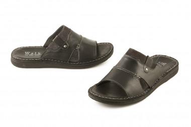 Open toe leather slide...