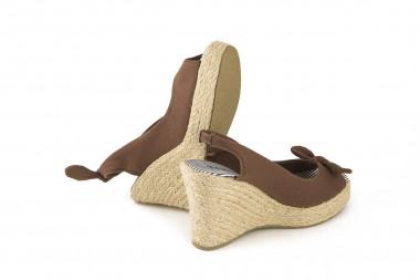 Espadrille rope high wedge...