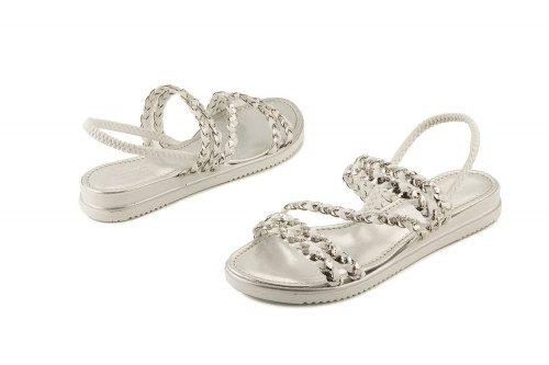 Sandalo bicolore con...