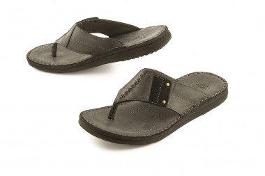 Black leather thong sandal...