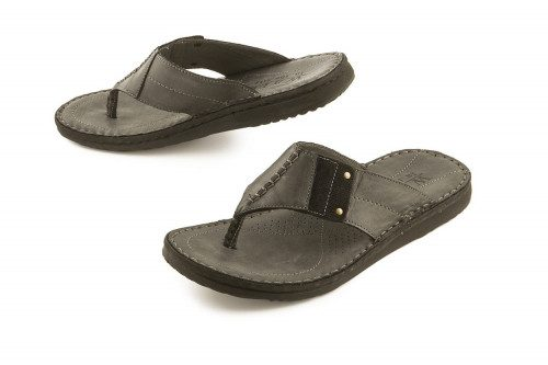 Black leather thong sandal...