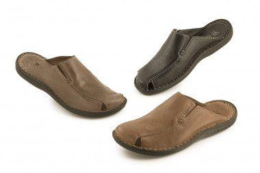 Closed toe slide sandal...