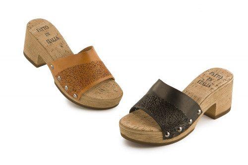 Chunky mid heel slide...