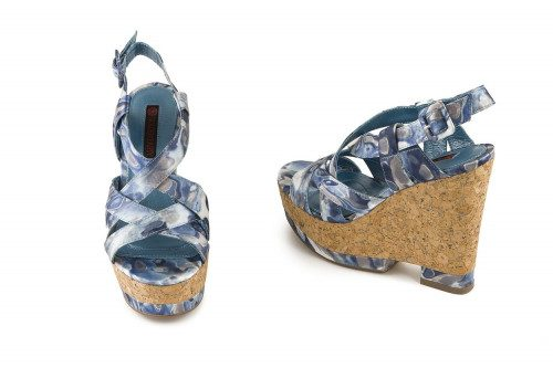 Cork wedge sandal Golden Party