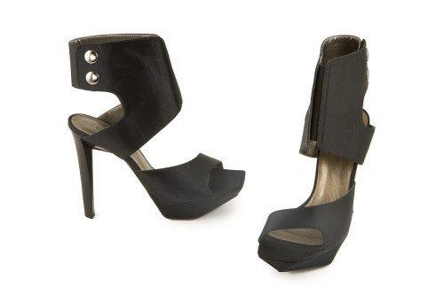 Black stiletto heel sandal...