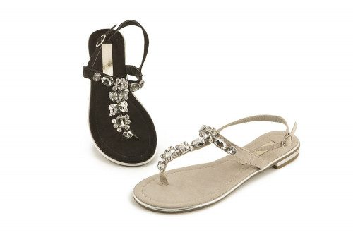 Thong sandal with strap and...