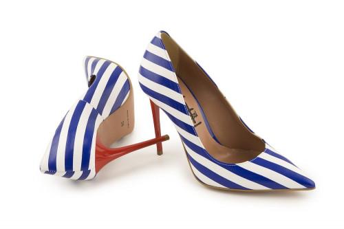 Stiletto striped pump 4 Passi