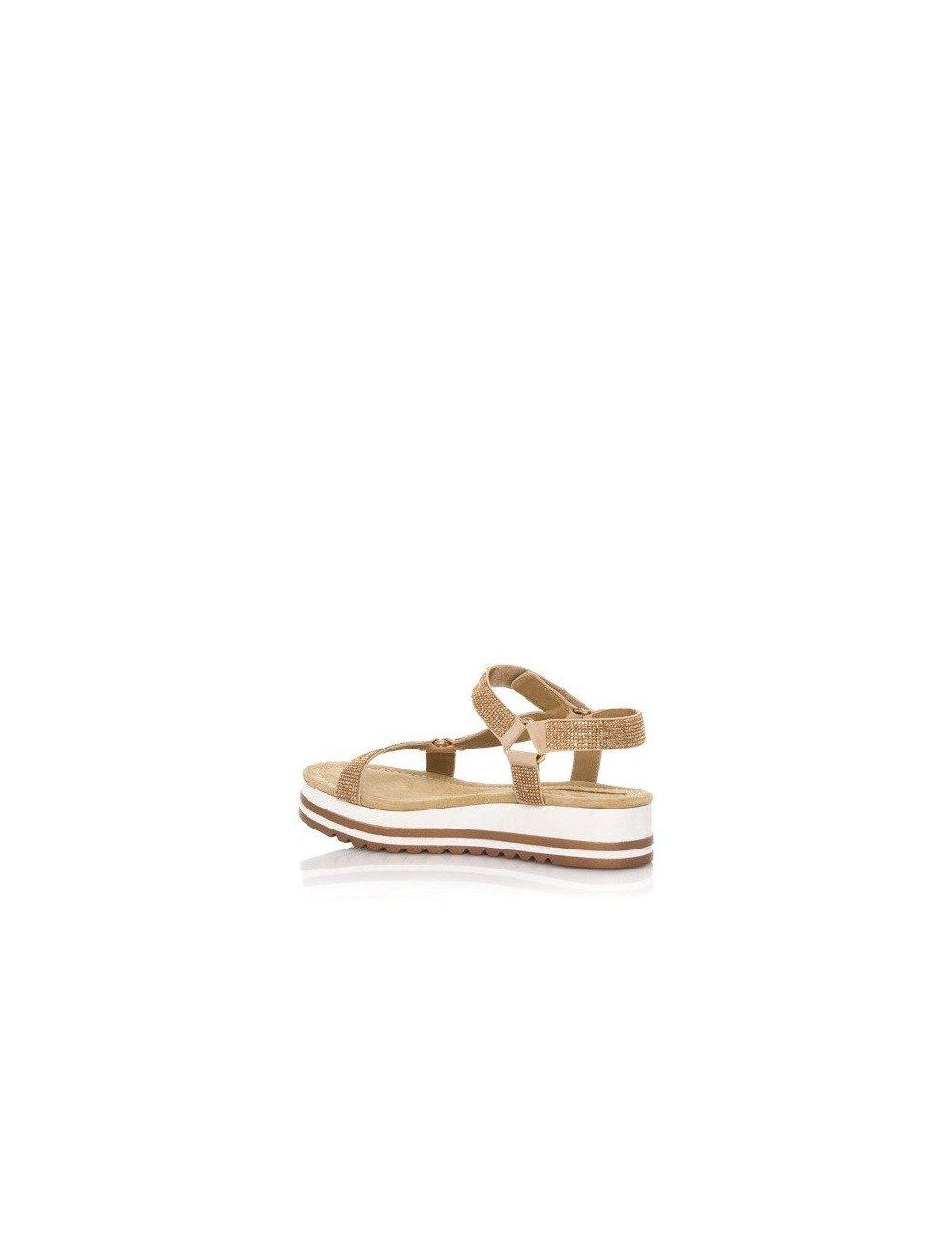 Sandalo con zeppa bassa e strass Maria Mare