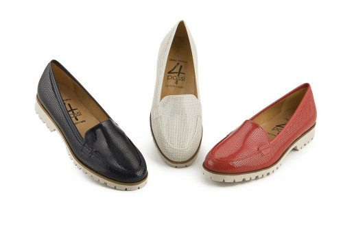 Perforated patent moccasin...