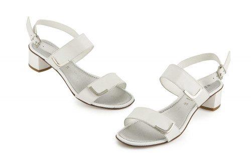 T-strap block heel sandal...