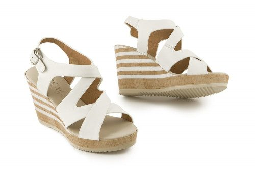 Criss cross leather wedge...