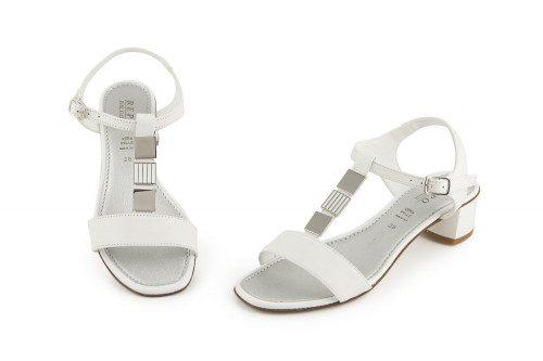Genuine leather comfy heel...