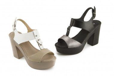 Chunky heel and platform...