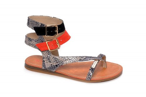 Two buckles thong sandal...