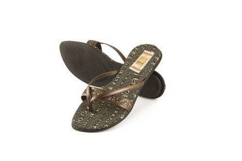 Glitter low heel toe-post...