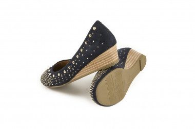 Studded wedge ballet pump Xti