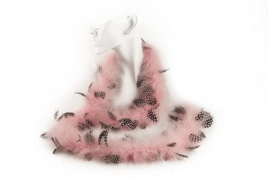 Marabou feather boa scarf...