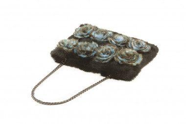 Medium rabbit fur handbag...