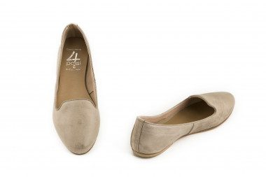Brushed leather slip-on...
