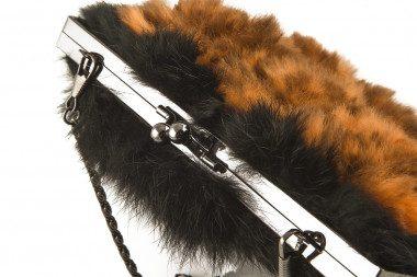 Rabbit fur handbag Kontessa...