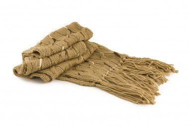 Fringed knit scarf Passigatti