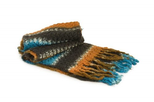 Fringed knit scarf 4 Passi
