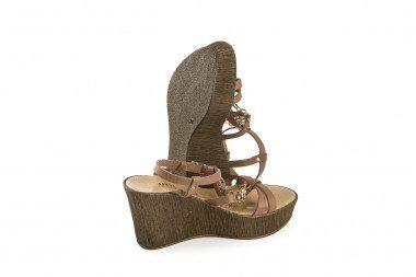 Mid wedge heel sandal with...