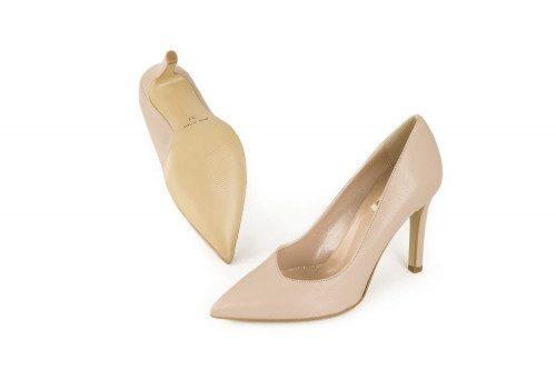 High heel leather pump 4 Passi