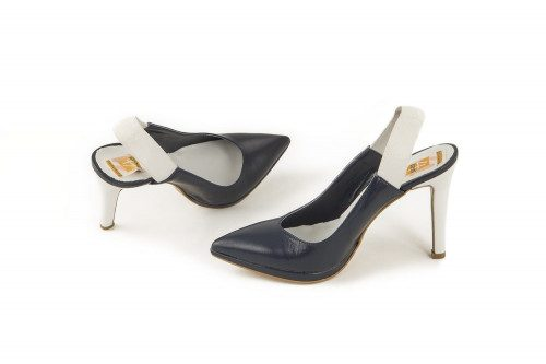 Slingback high heel leather...